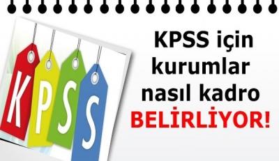 KPSS için kadro bildirecek kurumlar, nasıl kod belirliyor?
