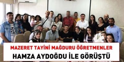 Mazeret tayini isteyen öğretmenler, Personel Genel Müdürü Aydoğdu ile görüştü