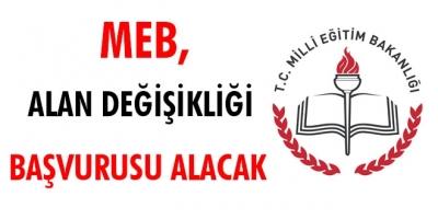 MEB, alan değişikliği duyurusunu yayımladı