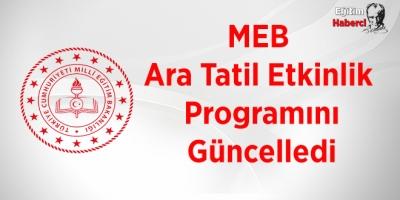MEB  Ara Tatil Etkinlik  Programını Güncelledi