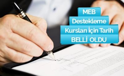 MEB destekleme ve yetiştirme kursları için takvim belli oldu!