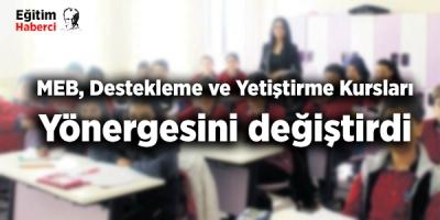 MEB, Destekleme ve Yetiştirme Kursları Yönergesini değiştirdi