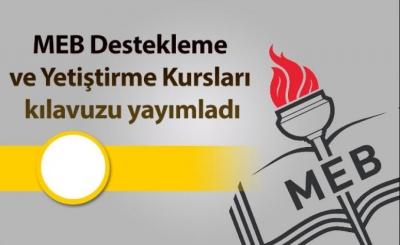 MEB Destekleme ve Yetiştirme Kursları kılavuzu yayımladı