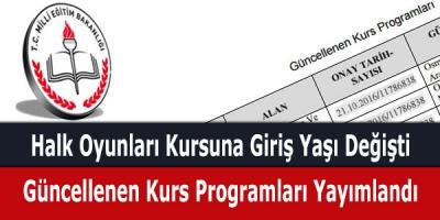 MEB, Güncellenen Kurs Programlarını Yayımladı