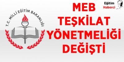 MEB Teşkilat Yönetmeliği Değişti