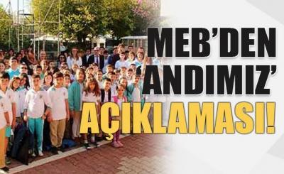 MEB'DEN ANDIMIZ SKANDAL TALİMAT HABERİNE AÇIKLAMA