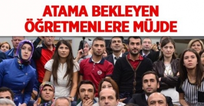 -MEB'DEN ATAMA BEKLEYEN ÖĞRETMENLERE MÜJDE