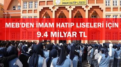 MEB'den İmam Hatip Liseleri İçin 9.4 Milyar TL