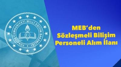 MEB'den Sözleşmeli Bilişim Personeli Alım İlanı