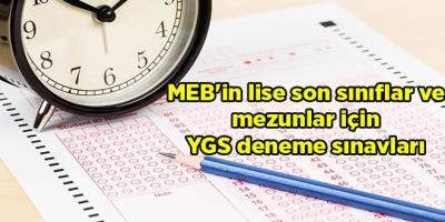 MEB'in lise son sınıflar ve mezunlar için YGS deneme sınavları