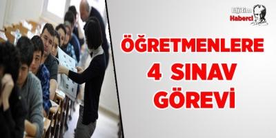 Milli Eğitim Bakanlığından Öğretmenlere 4 Oturum Yeni Sınav Görevi
