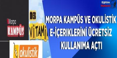 Morpa Kampüs ve Okulistik e-içeriklerini ücretsiz sunacak