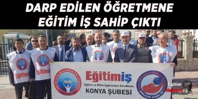 ÖĞRETMENE ŞİDDET PROTESTO EDİLDİ