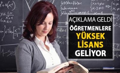 Öğretmenlere Yüksek Lisans Geliyor
