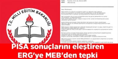 PISA sonuçlarını eleştiren ERG'ye MEB'den tepki