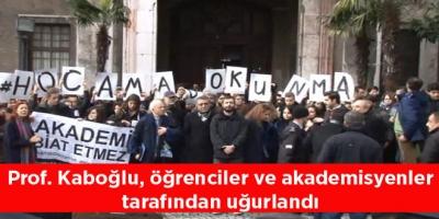 Prof. Kaboğlu, öğrenciler ve akademisyenler tarafından uğurlandı