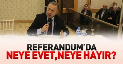 Referandumda neye evet neye hayır?