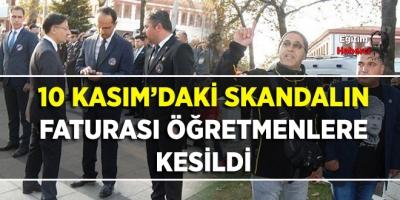 SKANDALIN FATURASI ÖĞRETMENLERE KESİLDİ