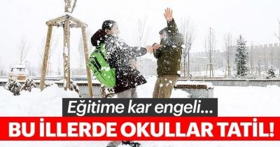 Son dakika: Bugün hangi illerde okullar tatil? İşte 7 Ocak Pazartesi kar yağışı nedeniyle tatil olan il ve ilçeler!