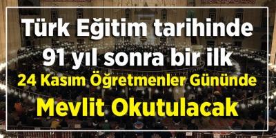 Türk Eğitim tarihinde 91 yıl sonra bir ilk