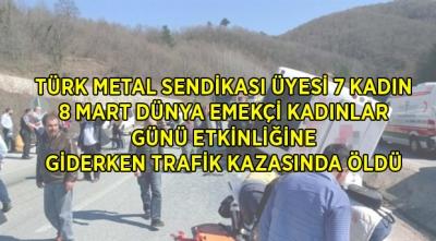 Türk Metal Sendikası Üyesi 7 Kadın Trafik Kazasında Öldü