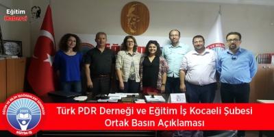 Türk PDR Derneği ve Eğitim İş Kocaeli Şubesi Ortak Basın Açıklaması
