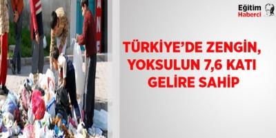 -TÜRKİYE'DE ZENGİN, YOKSULUN 7,6 KATI GELİRE SAHİP