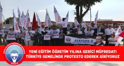 YENİ EĞİTİM ÖĞRETİM YILINA GERİCİ MÜFREDATI TÜRKİYE GENELİNDE PROTESTO EDEREK GİRİYORUZ