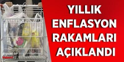 YILLIK  ENFLASYON  RAKAMLARI  AÇIKLANDI