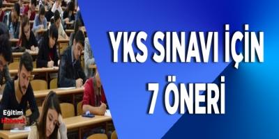 YKS sınavı için 7 öneri
