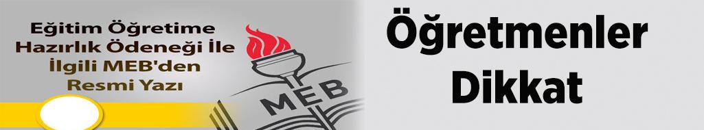 Eğitim Öğretime Hazırlık Ödeneği İle İlgili MEB'den Resmi Yazı