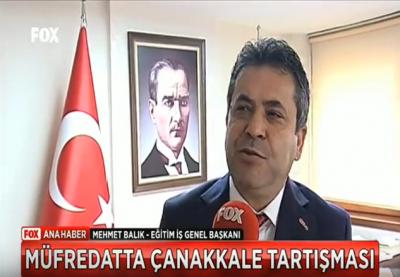 Eğitim İş Genel Başkanı Mehmet Balık FOX Anahaberde Taslak Müfredatı Değerlendirdi