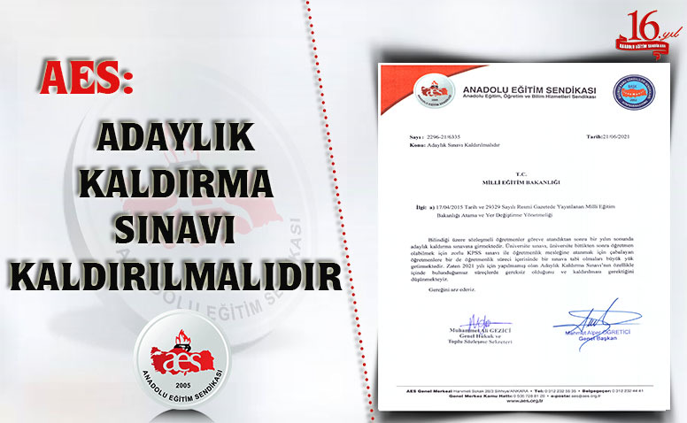 ADAYLIK KALDIRMA SINAVI KALDIRILMALIDIR