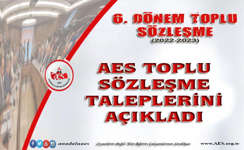 AES TOPLU SÖZLEŞME TALEPLERİNİ AÇIKLADI