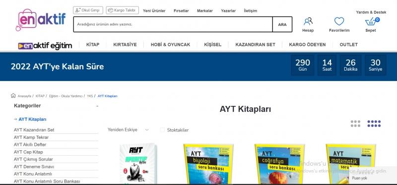 AYT Test Kitabı Fiyatlarının Cazip Seçenekleri Şimdi Enaktif'de!