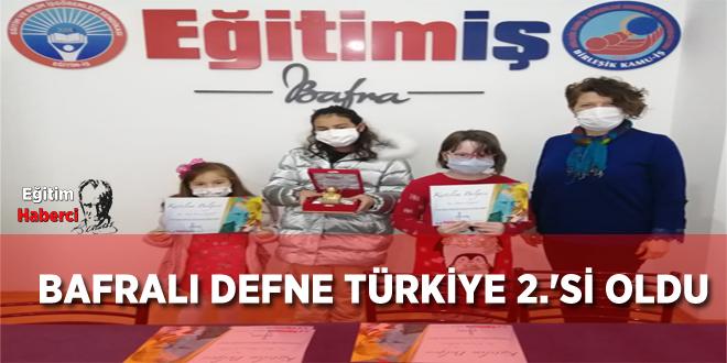 Bafralı Defne Türkiye 2.'si oldu