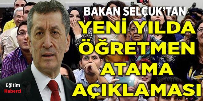 Bakan Ziya Selçuk'tan Yeni Yılda Öğretmen Atama Kontenjan Açıklaması