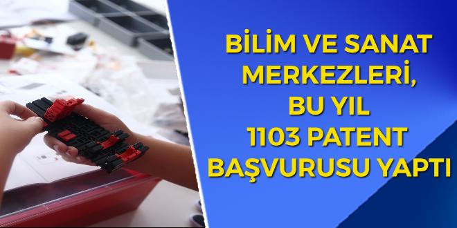 BİLİM VE SANAT MERKEZLERİ, BU YIL 1103 PATENT BAŞVURUSU YAPTI