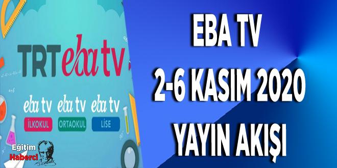 EBA TV  2-6 KASIM 2020 YAYIN AKIŞI