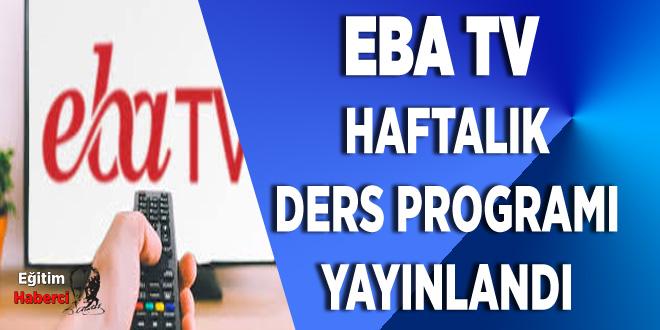 EBA TV 27-28-29 Mayıs Yayın Akışı