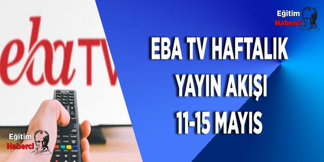 EBA TV Haftalık Yayın Akışı 11-15 Mayıs