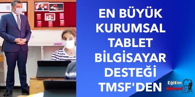 EN BÜYÜK KURUMSAL TABLET BİLGİSAYAR DESTEĞİ TMSF'DEN