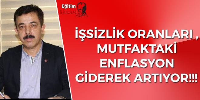 İŞSİZLİK ORANLARI ,MUTFAKTAKİ ENFLASYON GİDEREK ARTIYOR!!!