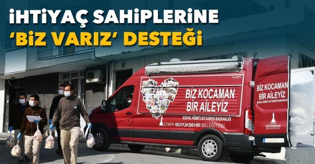 İzmir'de ihtiyaç sahiplerine 'Biz varız' desteği