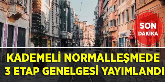 KADEMELİ NORMALLEŞMEDE 3 ETAP GENELGESİ YAYIMLANDI