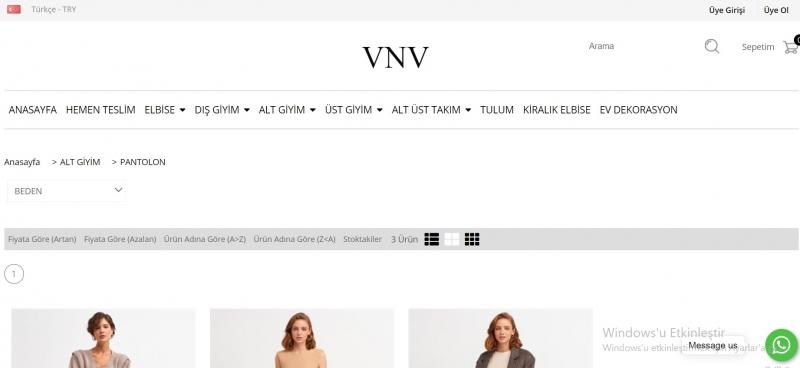 Kadın Pantolon Modelleri ve Fiyatları İçin Adresiniz Vnv Official!