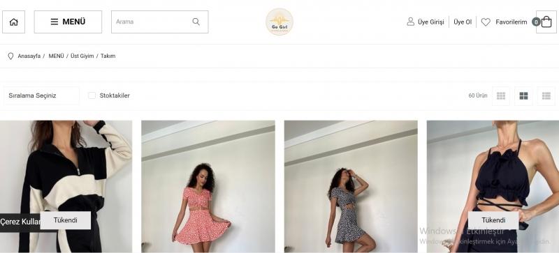 Kadın Takım Modelleri ve Fiyatlarına butikgogirl.com'da Göz Atın!