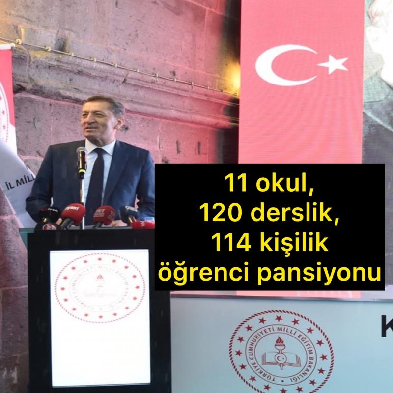 Kayseri'de Hayırseverlerin Desteği ile 11 okul, 120 derslik, 114 kişilik öğrenci pansiyonu Yapılacak