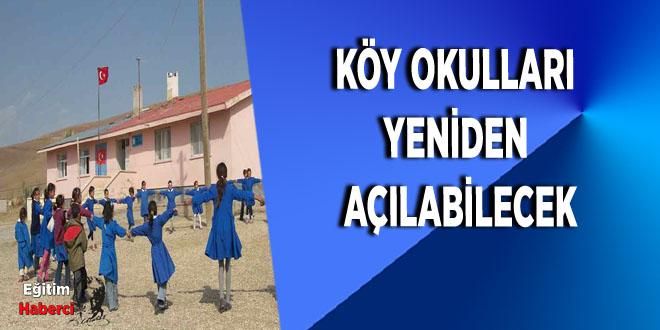 Köy Okulları Yeniden Açılabilecek