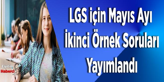 LGS İÇİN Mayıs Ayı İkinci Örnek Soruları Yayımlandı